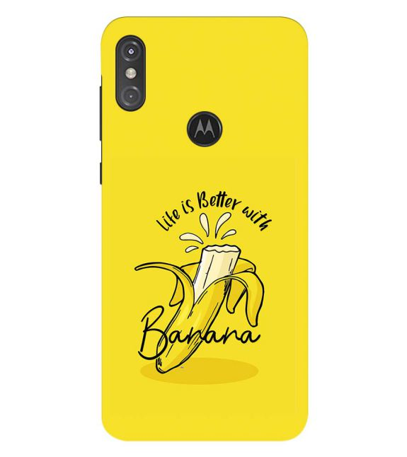Life is Better with Banana Back Cover for Motorola One Power (P30 Note)