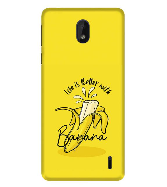 Life is Better with Banana Back Cover for Nokia 1 Plus