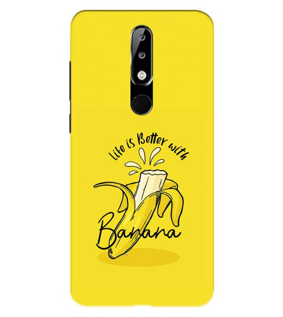 Life is Better with Banana Back Cover for Nokia 5.1 Plus (Nokia X5)