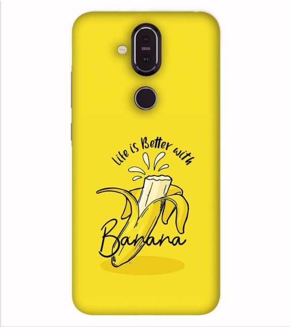 Life is Better with Banana Back Cover for Nokia 8.1 (Nokia X7)