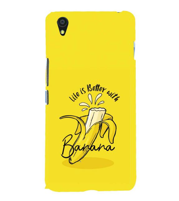 Life is Better with Banana Back Cover for OnePlus X