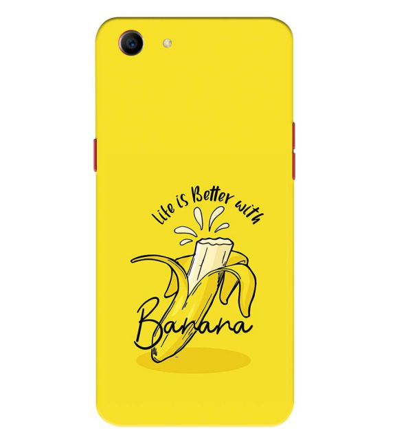 Life is Better with Banana Back Cover for Oppo A1