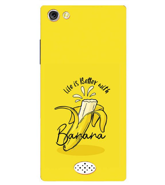 Life is Better with Banana Back Cover for Oppo Neo 5