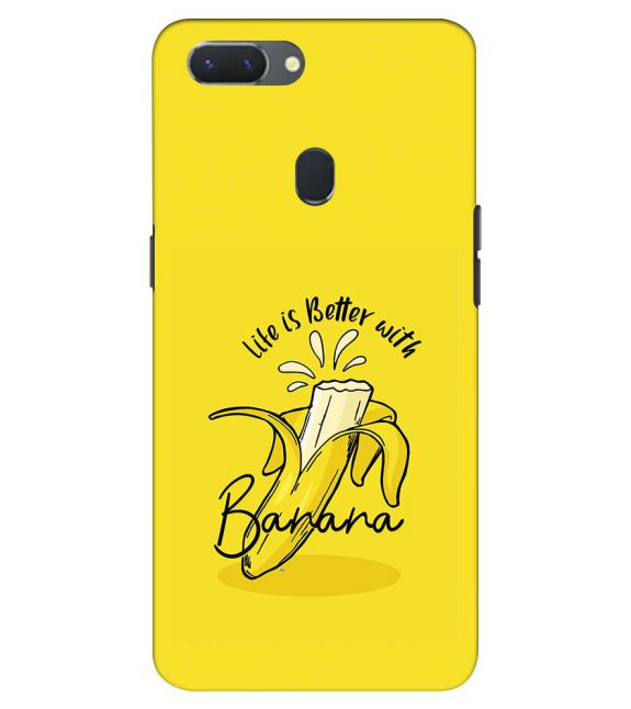 Life is Better with Banana Back Cover for Oppo Realme 2