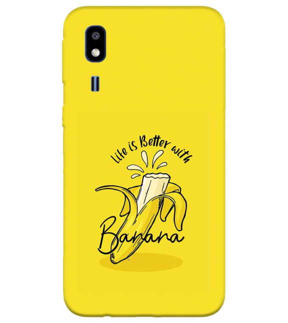 Life is Better with Banana Back Cover for Samsung Galaxy A2 Core