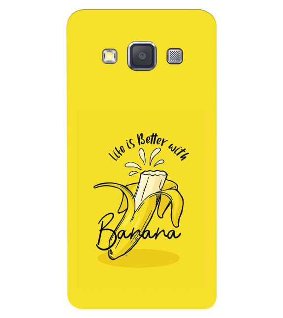 Life is Better with Banana Back Cover for Samsung Galaxy A3 (2015)
