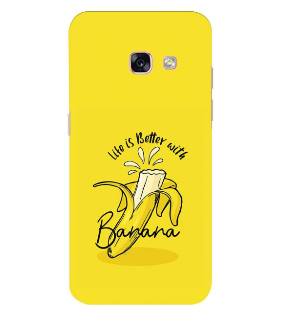 Life is Better with Banana Back Cover for Samsung Galaxy A3 (2017)