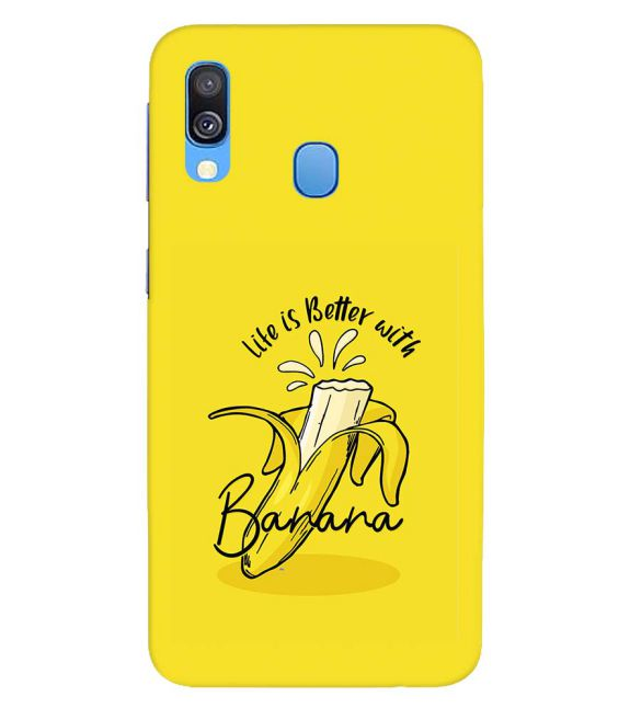 Life is Better with Banana Back Cover for Samsung Galaxy A40