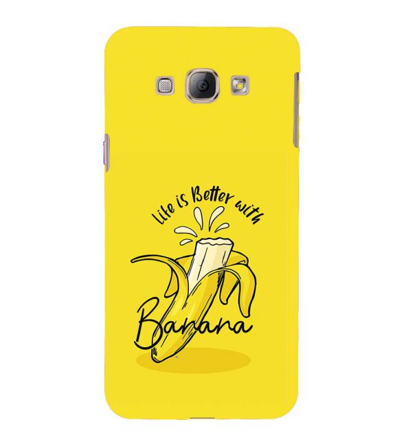 Life is Better with Banana Back Cover for Samsung Galaxy A8 (2015)