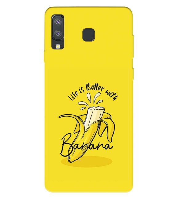 Life is Better with Banana Back Cover for Samsung Galaxy A8 Star