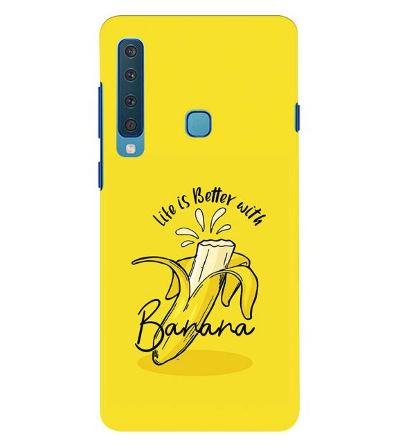 Life is Better with Banana Back Cover for Samsung Galaxy A9 (2018)