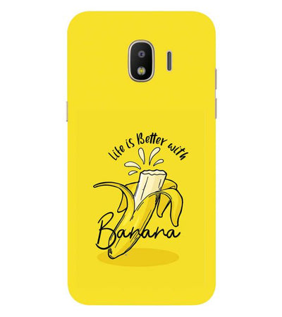 Life is Better with Banana Back Cover for Samsung Galaxy J2 (2018)