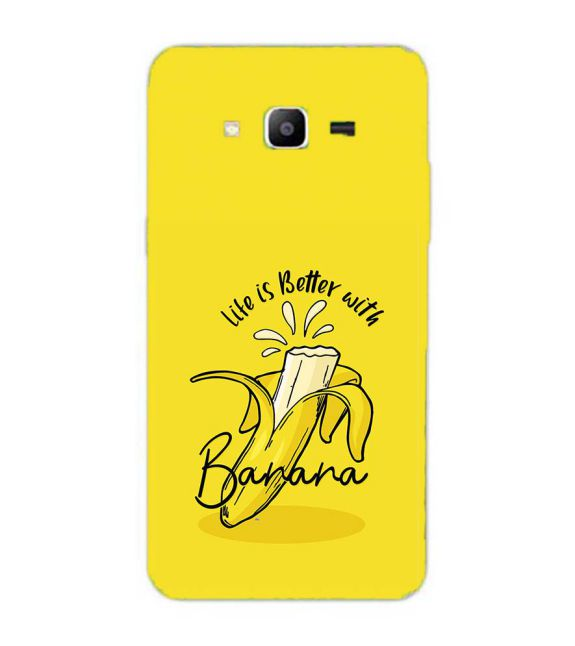 Life is Better with Banana Back Cover for Samsung Galaxy J2 Prime