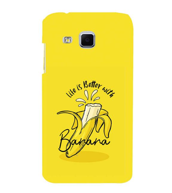 Life is Better with Banana Back Cover for Samsung Galaxy J3