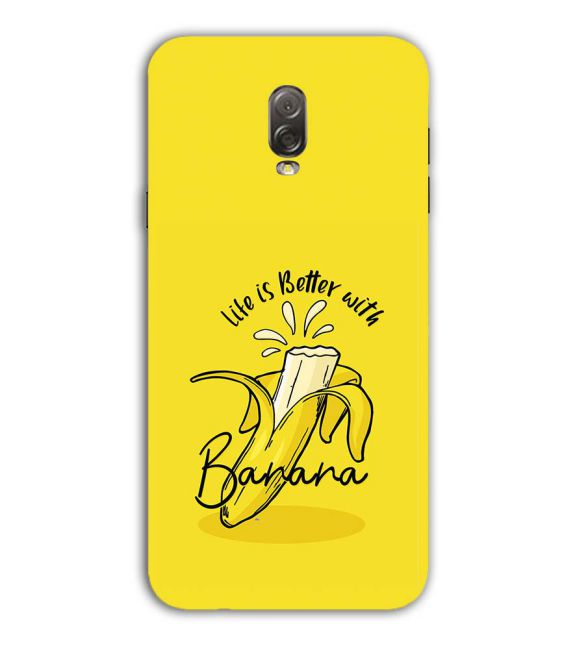 Life is Better with Banana Back Cover for Samsung Galaxy J7 Plus