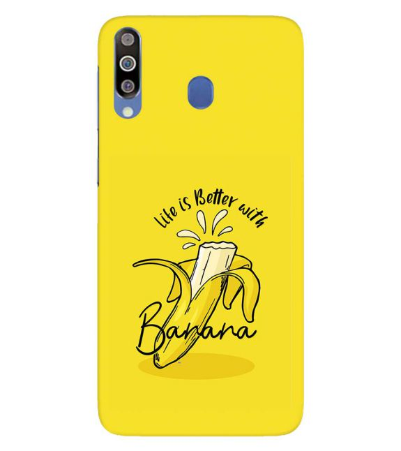 Life is Better with Banana Back Cover for Samsung Galaxy M30
