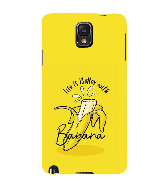 Life is Better with Banana Back Cover for Samsung Galaxy Note 3