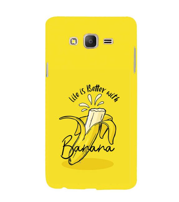 Life is Better with Banana Back Cover for Samsung Galaxy On7 and On 7 Pro