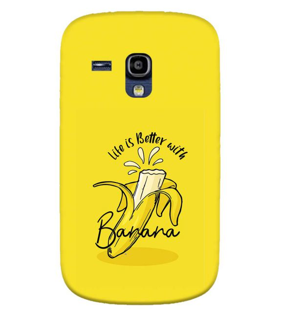 Life is Better with Banana Back Cover for Samsung Galaxy S3 Mini