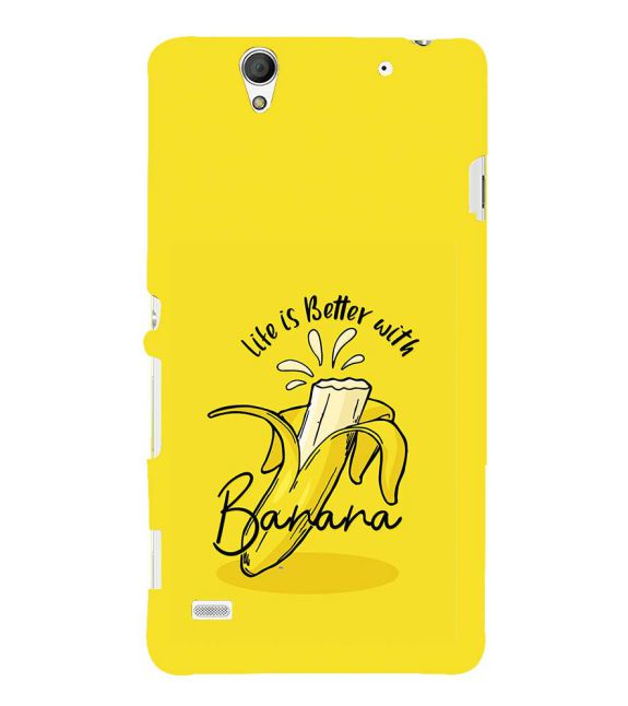 Life is Better with Banana Back Cover for Sony Xperia C4