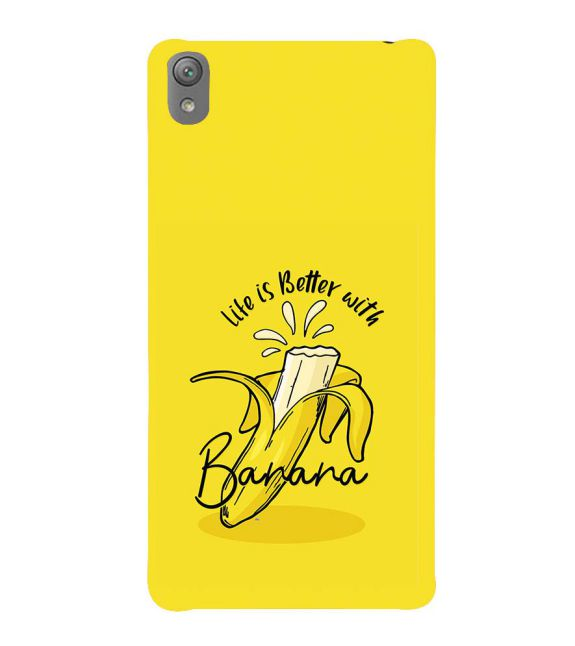 Life is Better with Banana Back Cover for Sony Xperia E5
