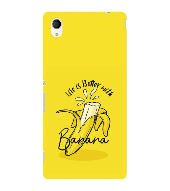 Life is Better with Banana Back Cover for Sony Xperia M4 Aqua