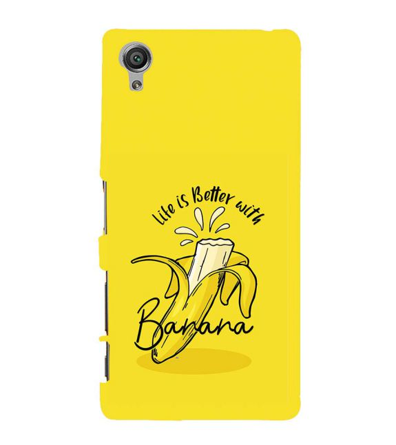 Life is Better with Banana Back Cover for Sony Xperia X