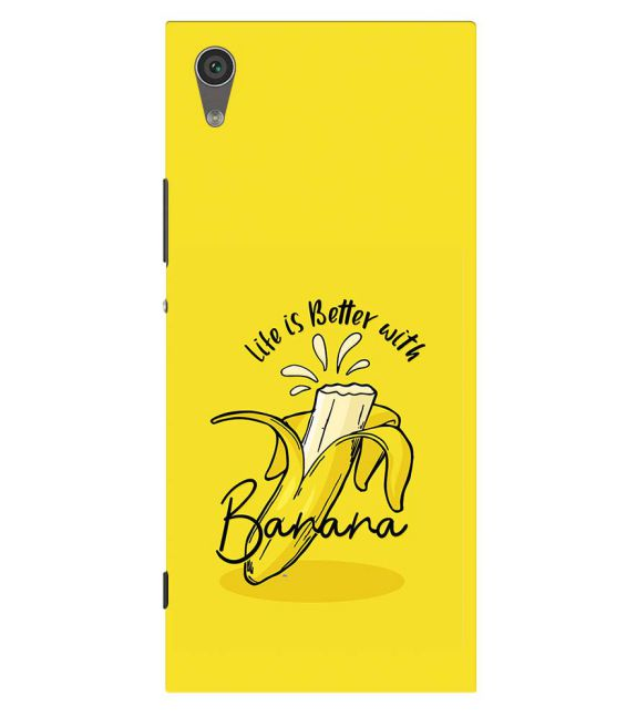 Life is Better with Banana Back Cover for Sony Xperia XA1 Plus