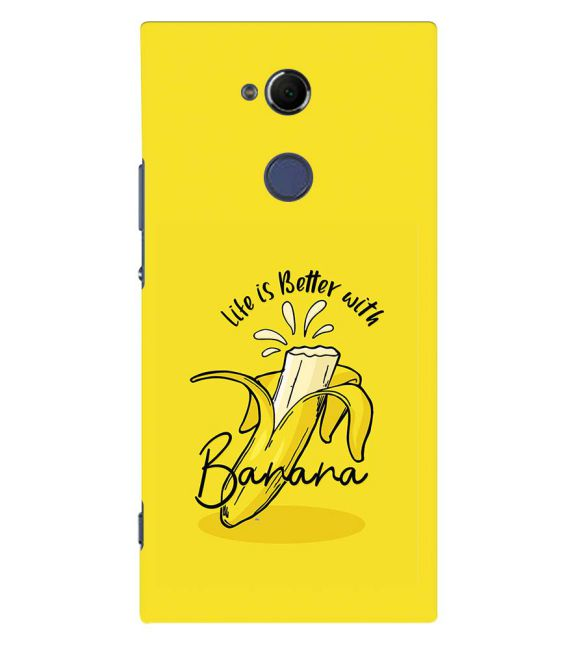 Life is Better with Banana Back Cover for Sony Xperia XA2 Ultra