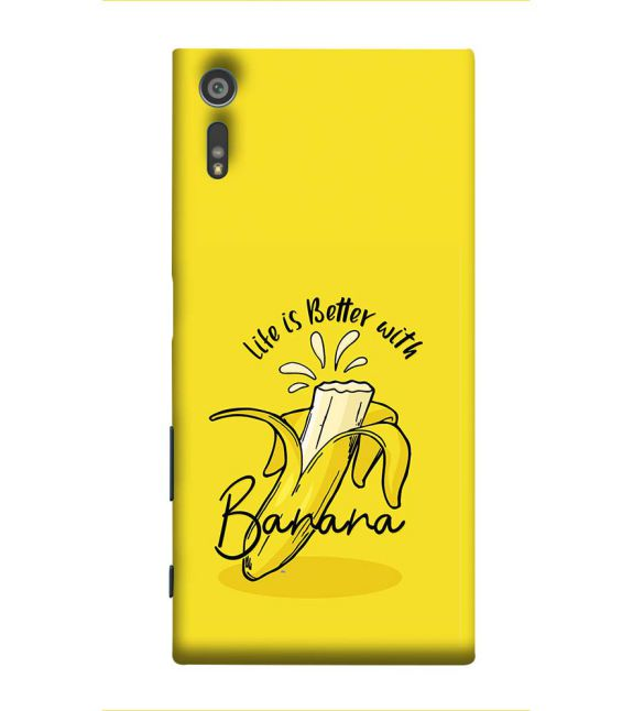 Life is Better with Banana Back Cover for Sony Xperia XR