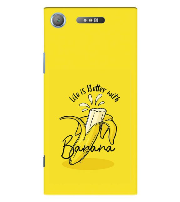 Life is Better with Banana Back Cover for Sony Xperia XZ1