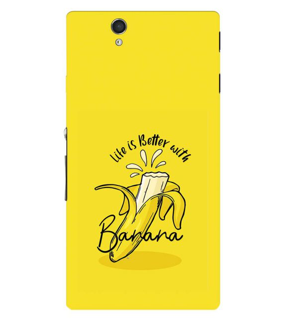 Life is Better with Banana Back Cover for Sony Xperia Z
