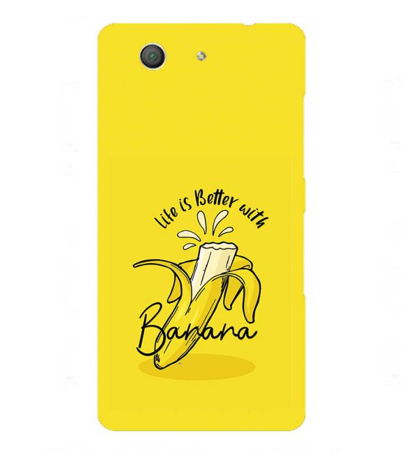 Life is Better with Banana Back Cover for Sony Xperia Z3+ and Xperia Z4