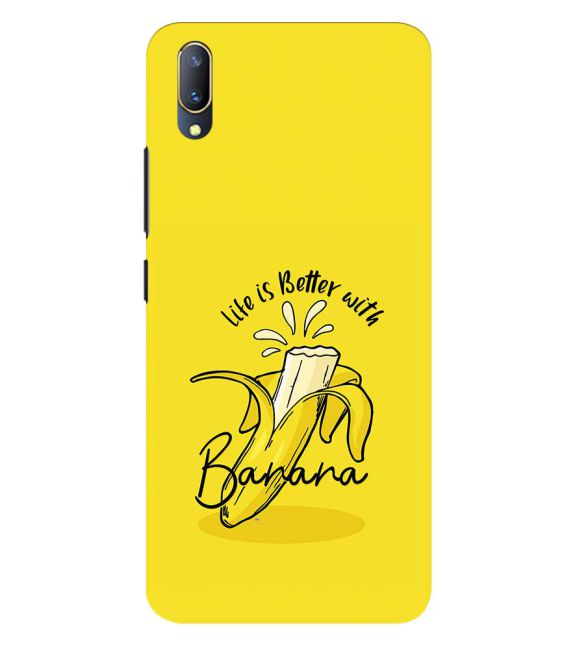 Life is Better with Banana Back Cover for Vivo V11 Pro