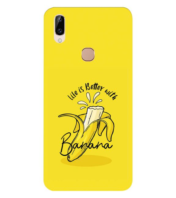 Life is Better with Banana Back Cover for Vivo Y83 Pro