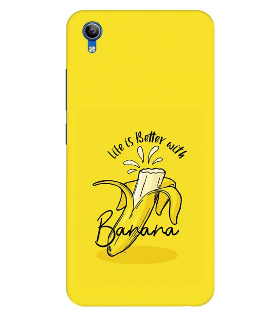 Life is Better with Banana Back Cover for Vivo Y91i