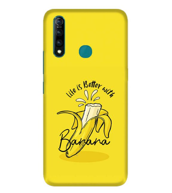 Life is Better with Banana Back Cover for Vivo Z1 Pro