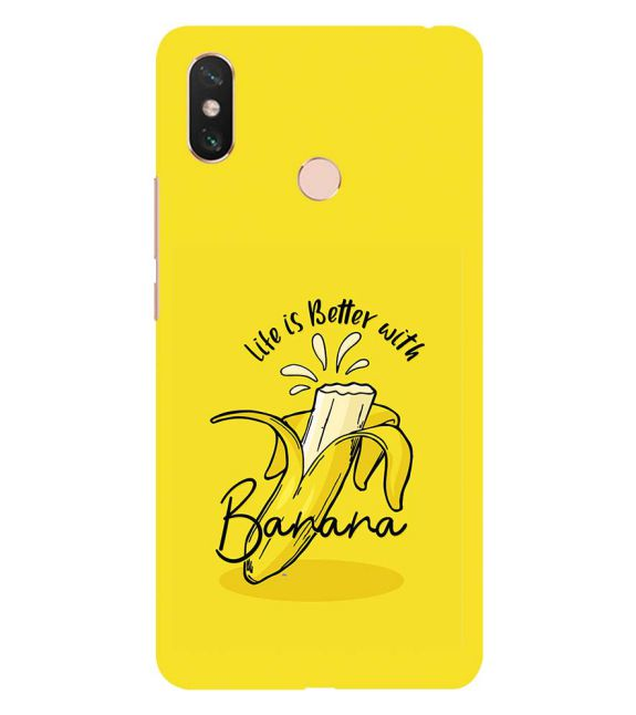 Life is Better with Banana Back Cover for Xiaomi Mi Max 3
