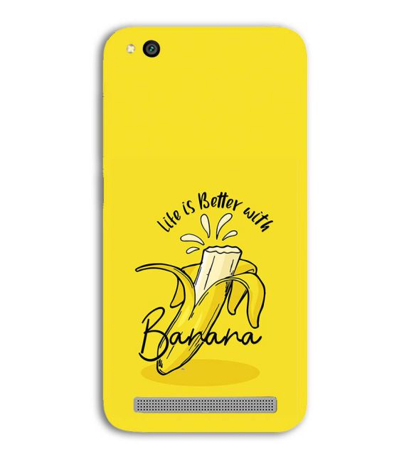 Life is Better with Banana Back Cover for Xiaomi Redmi 5A
