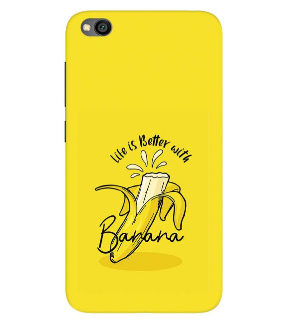 Life is Better with Banana Back Cover for Xiaomi Redmi Go