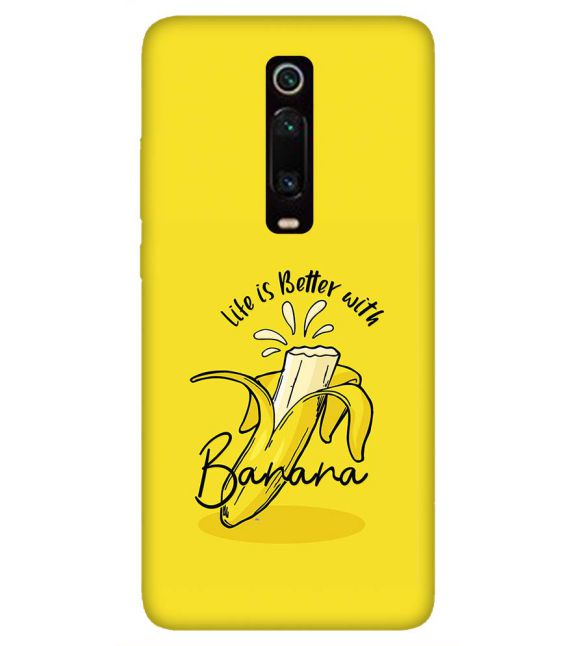 Life is Better with Banana Back Cover for Xiaomi Redmi K20 and K20 Pro