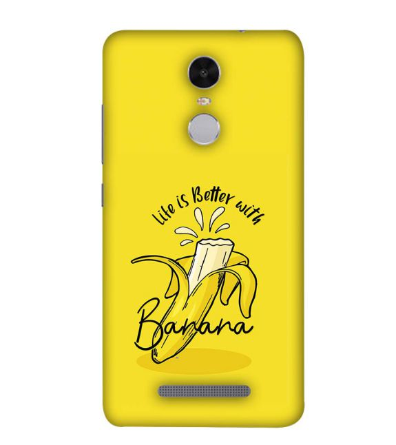Life is Better with Banana Back Cover for Xiaomi Redmi Note 4