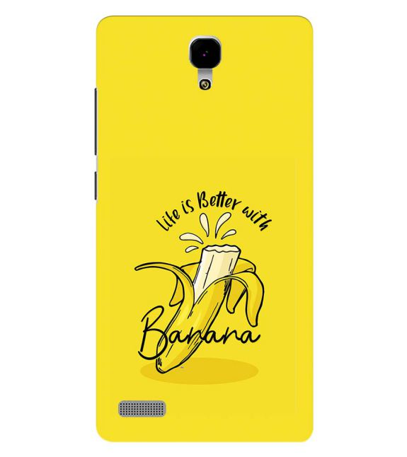 Life is Better with Banana Back Cover for Xiaomi Redmi Note 4G