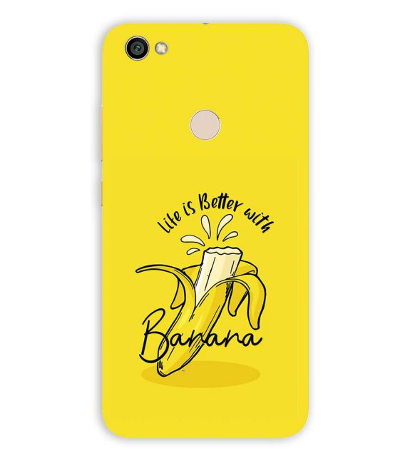Life is Better with Banana Back Cover for Xiaomi Redmi Y1