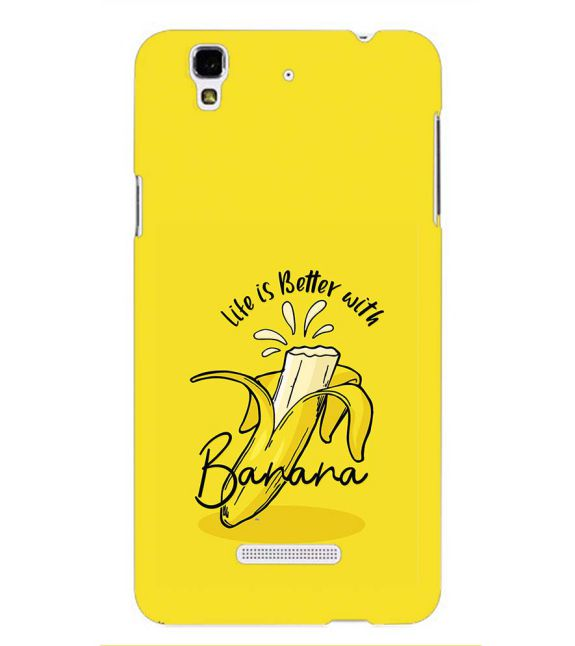 Life is Better with Banana Back Cover for Yu Yureka Plus