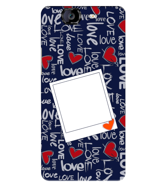 Love All Around Back Cover for Micromax A350 Canvas Knight