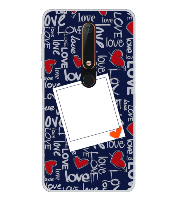 Love All Around Back Cover for Nokia 6.1 (2018)