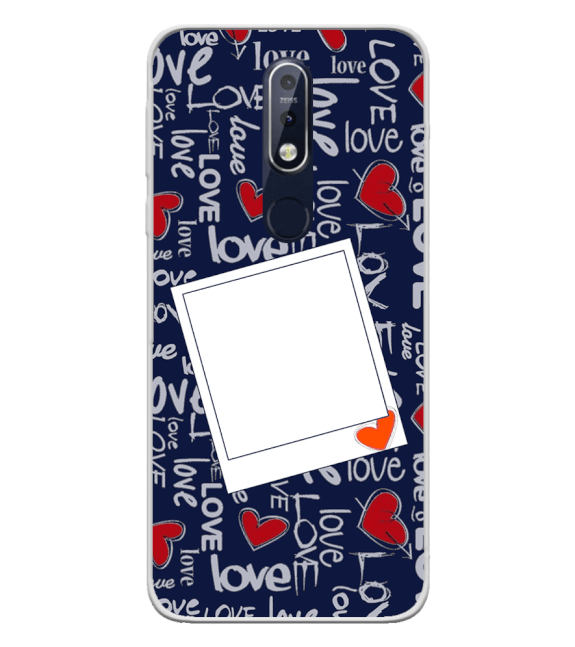 Love All Around Back Cover for Nokia 7.1