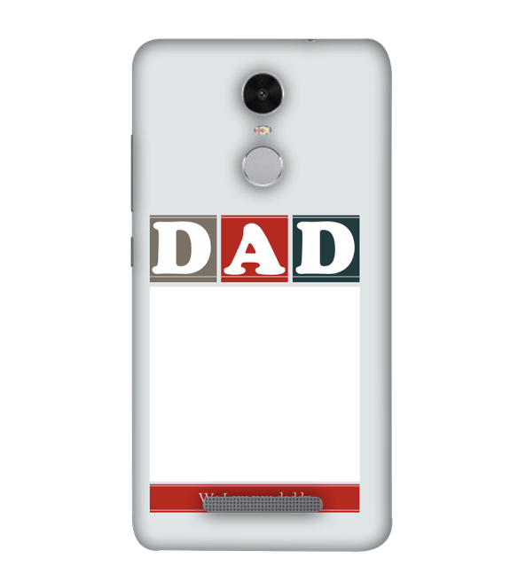 Love Dad Back Cover for Xiaomi Redmi Note 4