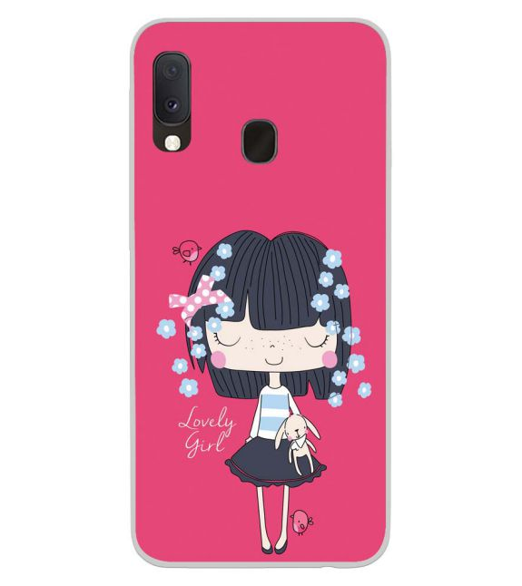 Loving Girl Back Cover for Samsung Galaxy A20e